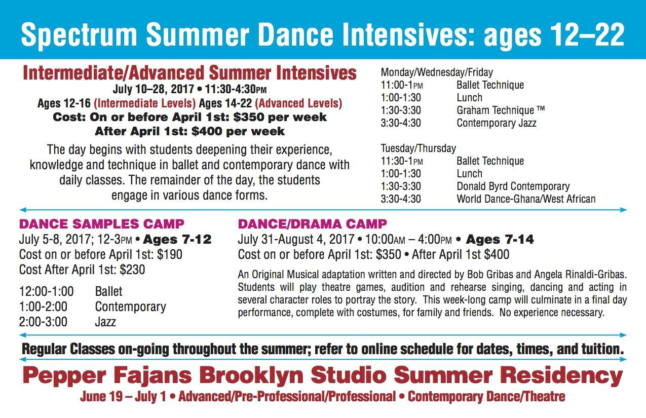 Summer Intensives card-5 - Spectrum Dance Theater