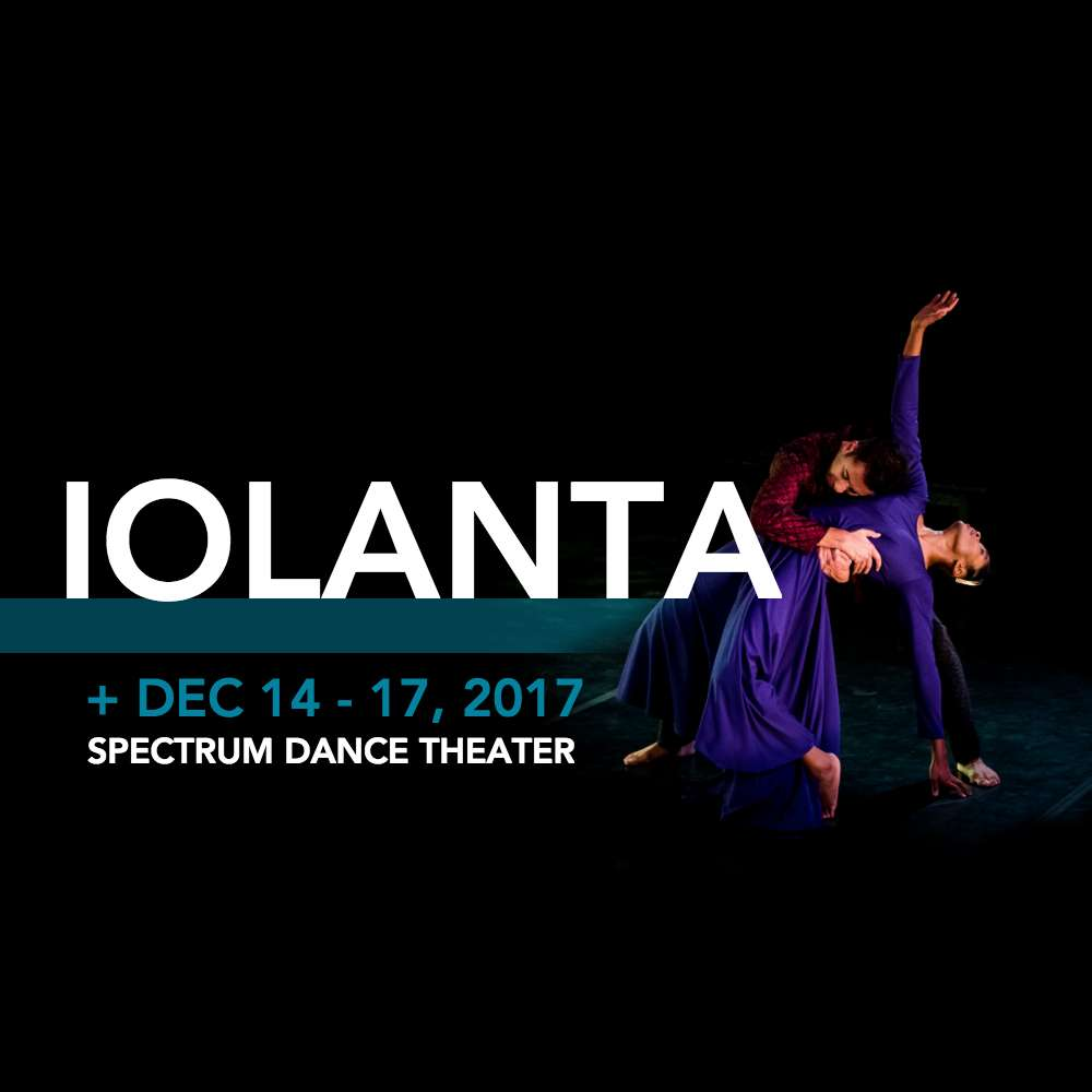 iolanta poster in green with red roses and woman's eye